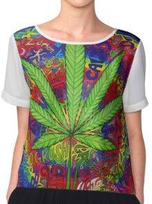 Psychedelic Weed Chiffon Top