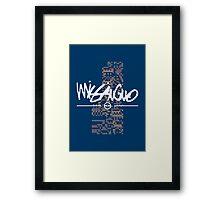 MissingNo Brand Framed Print