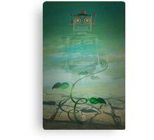 Robot  Green Canvas Print