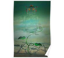 Robot  Green Poster