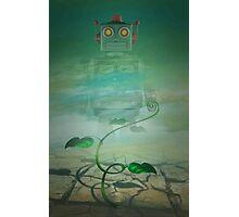 Robot  Green Photographic Print