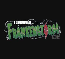 I Survived Frankenstorm Kids Tee