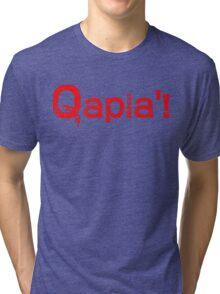 QAPLA'! Tri-blend T-Shirt