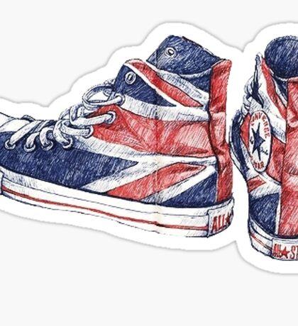 Union Jack Converse   Shoes Sticker