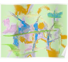 Watercolor Abstraction Poster
