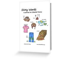 Dirty Words (Part 2) Greeting Card