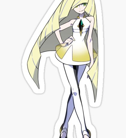 Lusamine - President of Aether Paradise Sticker