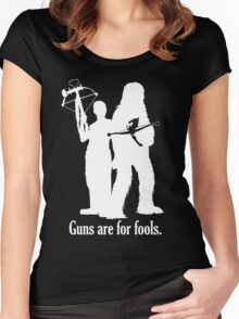 Guns are for fools. Women's Fitted Scoop T-Shirt