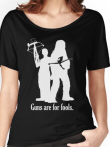 Guns are for fools. Women's Relaxed Fit T-Shirt