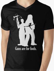 Guns are for fools. Mens V-Neck T-Shirt
