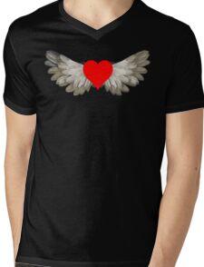 heart wings Mens V-Neck T-Shirt
