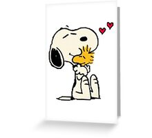 Snoopy hug Greeting Card