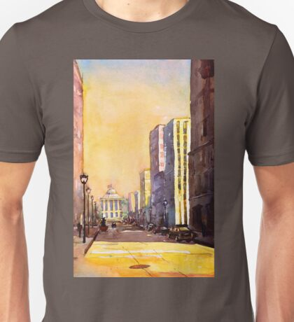 Raleigh, NC downtown- watercolor painting Unisex T-Shirt