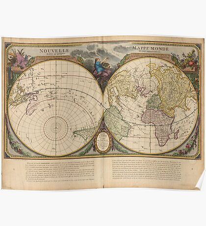 World Map 1760 Poster