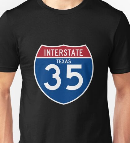 Interstate 35 I-35 Highway Sign  Unisex T-Shirt