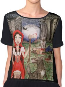 Red Dead Ridinghood. Twisted Tales, Deadly Ever After Chiffon Top