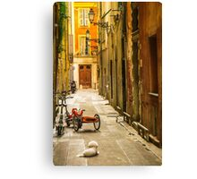 France - City of Nice - Afternoon Canvas Print