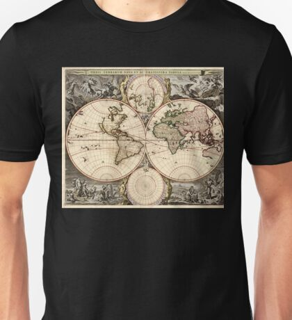 World Map 1690 Unisex T-Shirt