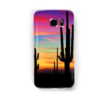 A Southwest Saguaro Sunset  Samsung Galaxy Case/Skin