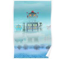 Robot blue Poster