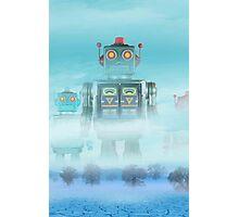 Robot blue Photographic Print