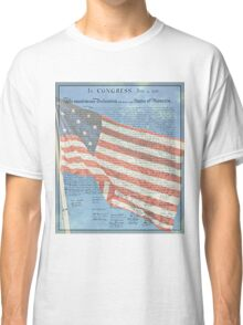 Declaration of Independence & Star-Spangled Banner Classic T-Shirt