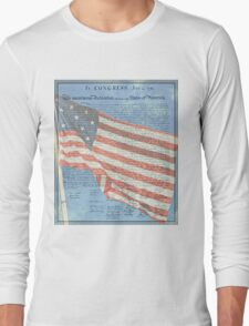 Declaration of Independence & Star-Spangled Banner Long Sleeve T-Shirt