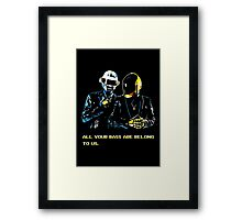 All Your Bass Are Belong To Us Framed Print