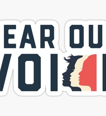 Women's March - Hear Our Voice Sticker