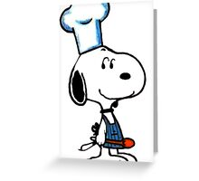 Cooking Snoopy Greeting Card