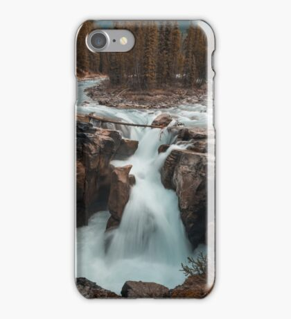 Long Exposure Autumn Waterfall Art Prints and Posters iPhone Case/Skin