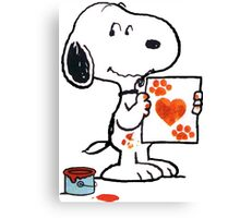 Snoopy Valentine Canvas Print