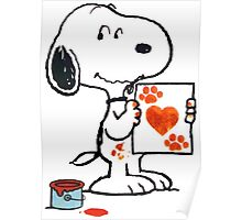 Snoopy Valentine Poster