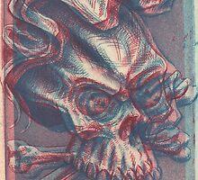 Skull with ribbon  by thomasjart
