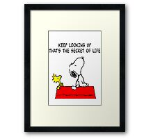 Snoopy Quote Framed Print