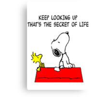 Snoopy Quote Canvas Print