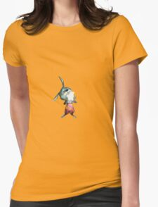 Rabbit on Apple Womens Fitted T-Shirt