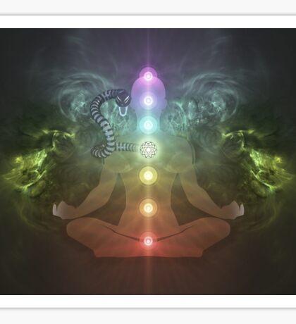Meditation Abstract Spiritualism Yoga Concept Sticker