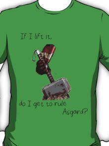 thor's hammer and Iron man T-Shirt