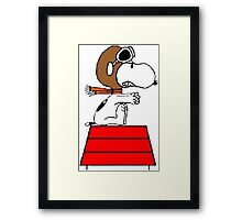 Red Baron Snoopy Framed Print