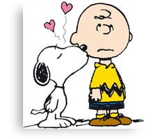Snoopy loves Charlie Brown Canvas Print