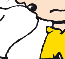 Snoopy loves Charlie Brown Sticker