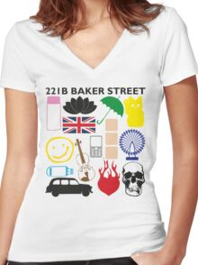FAVOURITE SHERLOCK MOMENTS Women's Fitted V-Neck T-Shirt