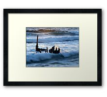 Fiery Sea 2 Framed Print
