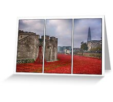 Blood Swept Lands Tryptych Greeting Card