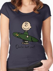 Charlie (don't) surf Women's Fitted Scoop T-Shirt