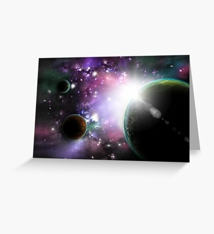 Deep outer space Greeting Card