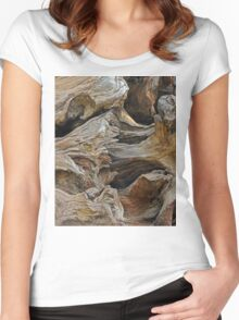 Old Tree Stump - Yosemite National Park - California Women's Fitted Scoop T-Shirt