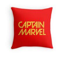 captain marvel again Throw Pillow