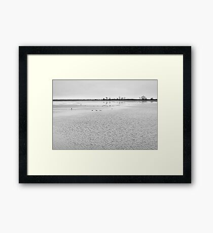 Lake in Winter, black white Framed Print